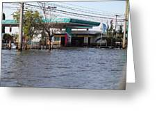 Flooding Of Stores And Shops In Bangkok Thailand - 01133 Greeting Card by DC Photographer