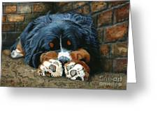Flop Those Lips Fast Asleep Extra Ventilation Greeting Card by Liane Weyers