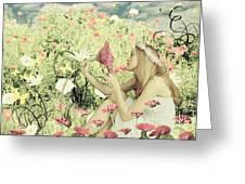 Flora Greeting Card by Linda Lees