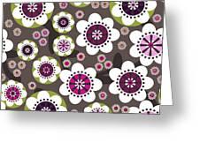 Floral Grunge Greeting Card by Lisa Noneman