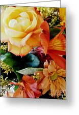 Floral Harmony Greeting Card by Avis  Noelle