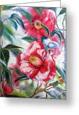 Floral Print Greeting Card by Nancy Stutes