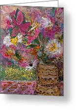 Floral Rhapsody Collage Greeting Card by Anne-Elizabeth Whiteway