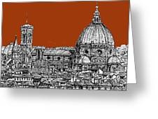 Florence Duomo On Sepia Greeting Card by Lee-Ann Adendorff