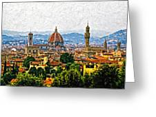 Florence impasto Greeting Card by Steve Harrington