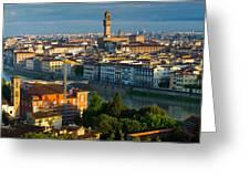 Florence Panorama Greeting Card by Inge Johnsson