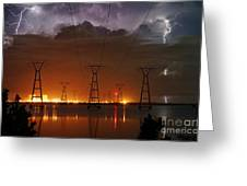 Florida Power And Lightning Greeting Card by Lynda Dawson-Youngclaus