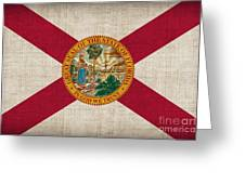 Florida State Flag Greeting Card by Pixel Chimp