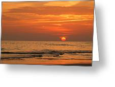 Florida Sunset Greeting Card by Sandy Keeton