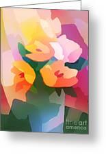Flower Deco II Greeting Card by Lutz Baar