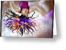 Flower Fire Dream Greeting Card by Andrew Nourse
