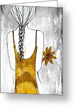 Flower Girl 2 Greeting Card by Anne Costello