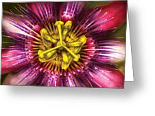 Flower - Intense Passion  Greeting Card by Mike Savad