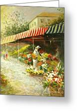 Flower Market Greeting Card by Madeleine Holzberg