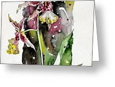 Flower ORCHID 03 Elena Yakubovich Greeting Card by Elena Yakubovich