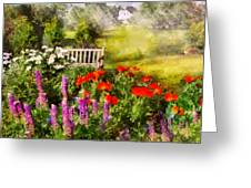 Flower - Poppy - Piece Of Heaven Greeting Card by Mike Savad