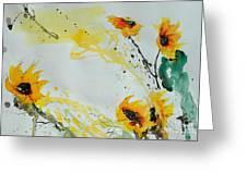 Flower Power- Sunflower Greeting Card by Ismeta Gruenwald