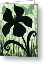 Flower Silhouette 10 Greeting Card by Elaina  Wagner
