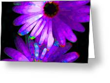 Flower Study 6 - Vibrant Purple by Sharon Cummings Greeting Card by Sharon Cummings