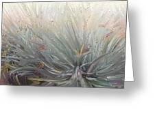 Flowering Bushes In The Fog Greeting Card by Angela A Stanton