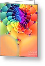 Flowering Fractal Fruit Tree Greeting Card by Rebecca Phillips