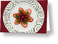 Flowering Fruits Greeting Card by Anne Gilbert