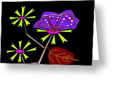 Flowers And Butterfly Greeting Card by Anand Swaroop Manchiraju