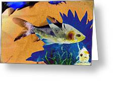 Flowers And Fins Greeting Card by Lenore Senior