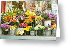 Flowers At The Bi-rite Market In San Francisco Greeting Card by Artist and Photographer Laura Wrede