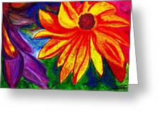 Flowers I Greeting Card by Carla Sa Fernandes