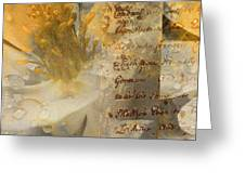 Flowers III Greeting Card by Yanni Theodorou