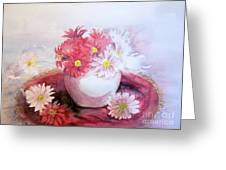 Flowers In Pot Greeting Card by Yoshiko Mishina