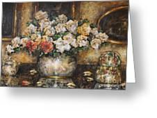 Flowers Of My Heart Greeting Card by Dariusz Orszulik