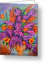 Flowers Of Passion Greeting Card by Phoenix The Moody Artist