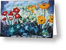 Flowers Through The Storm Greeting Card by Michael Kulick