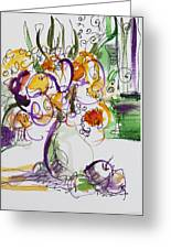Flowers With Purple Hint Greeting Card by Becky Kim