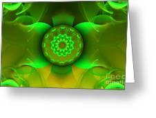 Flowing Green Greeting Card by Hanza Turgul