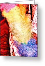 Fluffy Abstract Collage Greeting Card by Anne-Elizabeth Whiteway