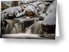 Fluid Ice Greeting Card by Mitch Shindelbower