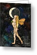 Fly By Night Greeting Card by Nora Blansett