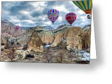 Fly Into Kappadokia Greeting Card by Juergen Klust
