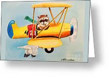 Flying Friends Greeting Card by LeAnne Sowa