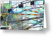 Flying Inside Ferris Wheel Greeting Card by Luther   Fine Art