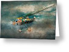 Flying Pig - Acts Of A Pig Greeting Card by Mike Savad
