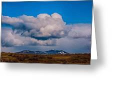 Flying Rain Spirit Greeting Card by Omaste Witkowski