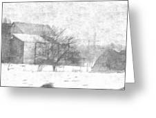 Fog Down On The Farm Greeting Card by Rosemarie E Seppala