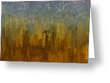 Fog Over Midtown Greeting Card by Jack Zulli