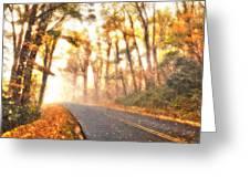Foggy Fall Wonderland - Blue Ridge Parkway II Greeting Card by Dan Carmichael
