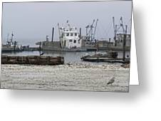Foggy Harbor Greeting Card by Pamela Patch