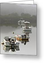 Foggy Moorings Greeting Card by Carl Jacobs